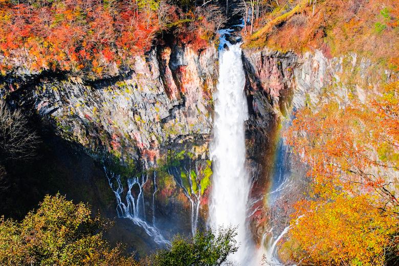 華厳滝の紅葉