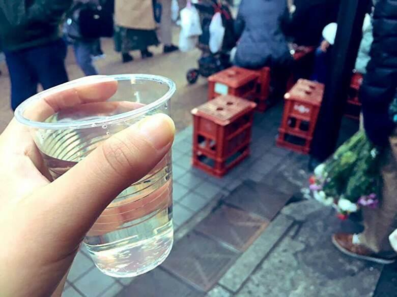 谷中銀座と日本酒
