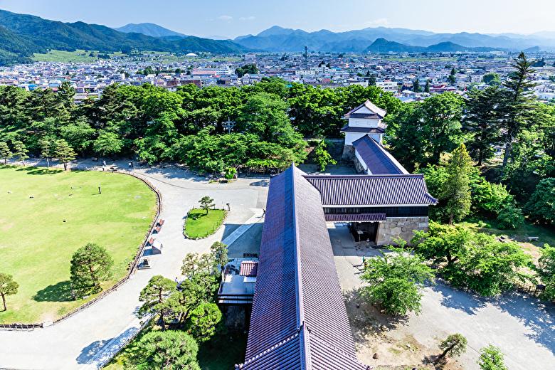 鶴ヶ城天守閣からの景色