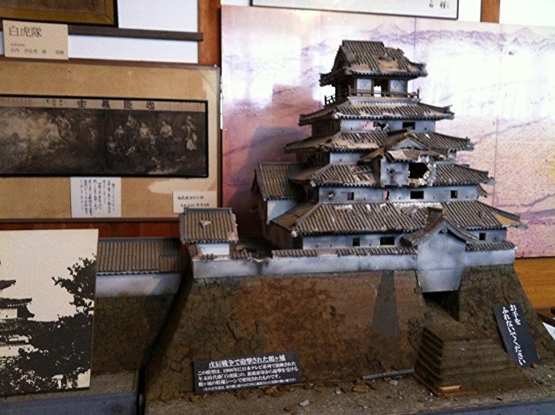 鶴ヶ城籠城戦のジオラマ