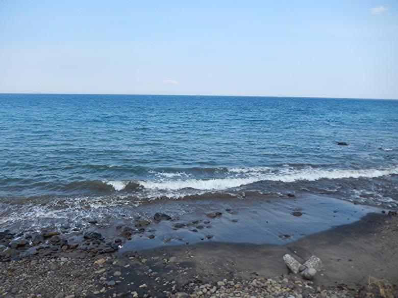 榎本軍上陸点の海