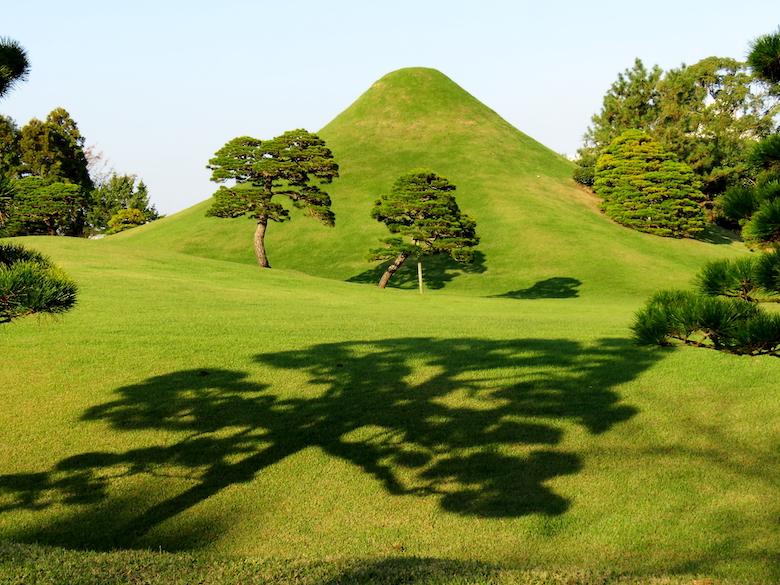 水前寺成趣園 庭園 富士山