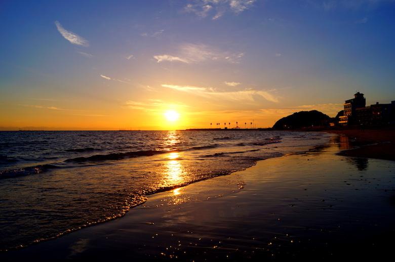千鳥ヶ浜の夕景