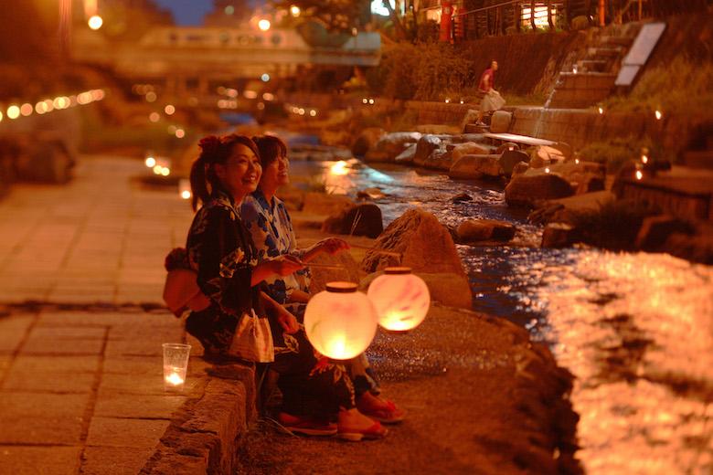 夜の玉造温泉