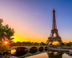 パリの夕景