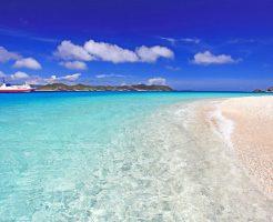 ナガンヌ島のビーチ