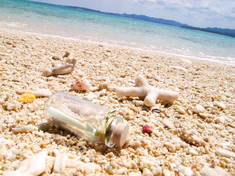 珊瑚の砂浜
