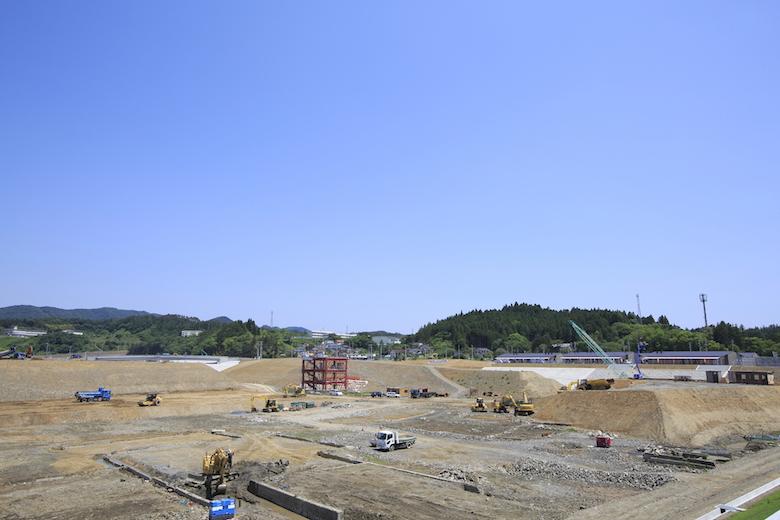 震災復興記念公園建設中