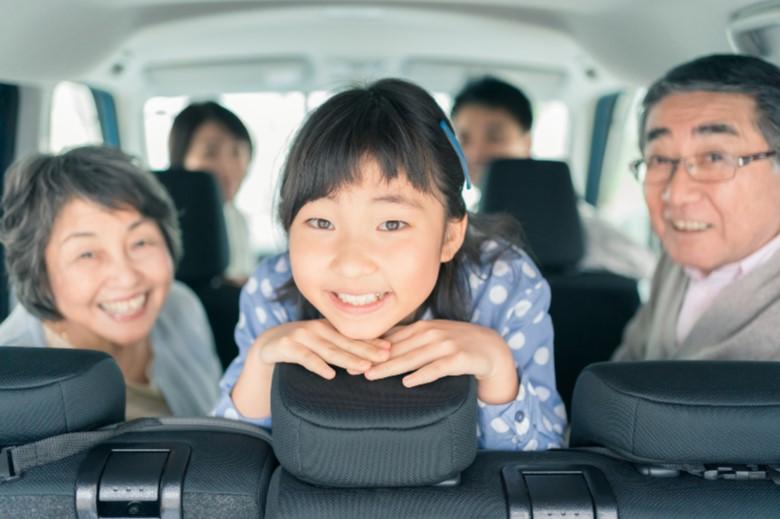 親子三世代の家族旅行