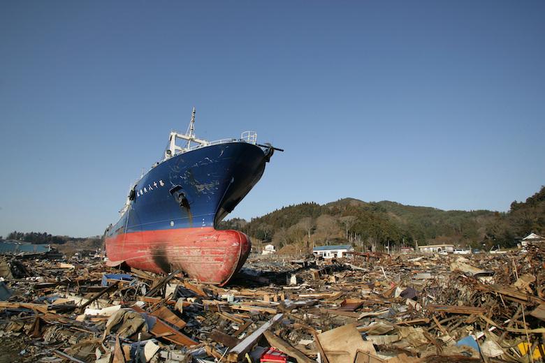 東日本大震災直後の気仙沼