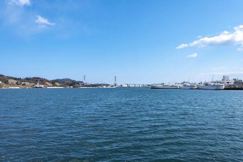 内湾地区から見た気仙沼湾