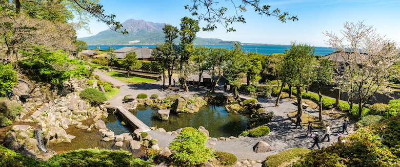 仙巌園の大庭園