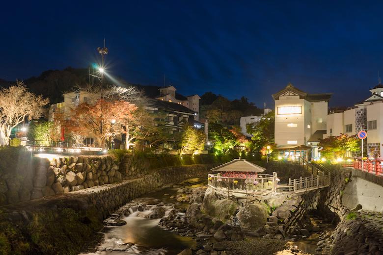 夜の修善寺温泉
