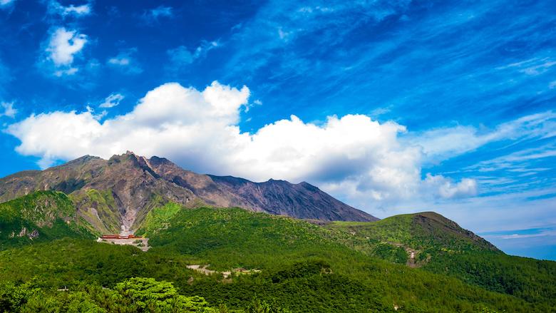 湯之平展望所から望む桜島