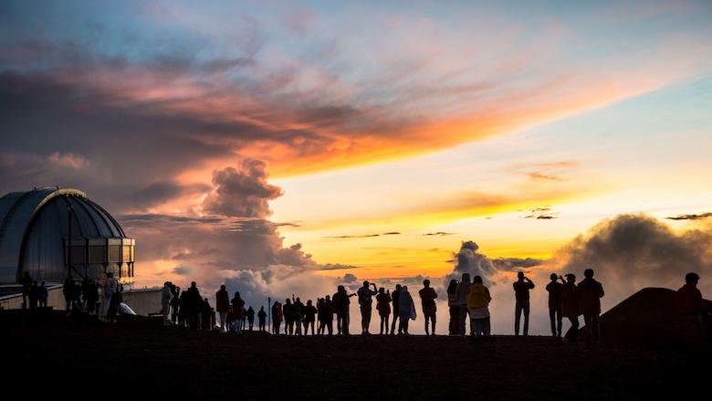 マウナケア山から眺めるサンセット