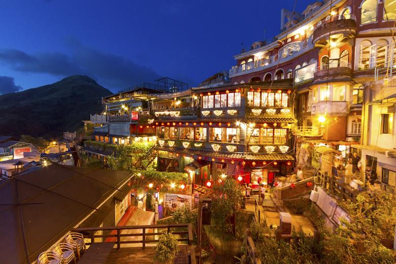 日本人観光客に大人気の九份夜景